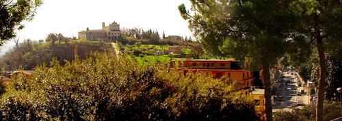 il Convento visto dalle mura sud di Corridonia